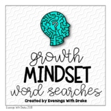 Growth Mindset Word Search Set