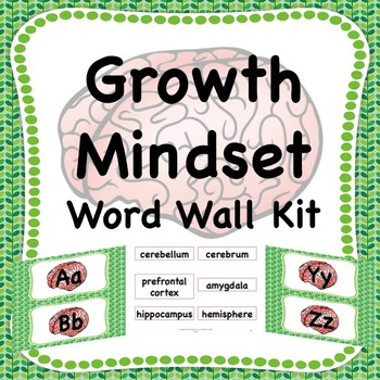 Growth Mindset Word Wall Kit