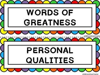 Growth Mindset: Words of Greatness