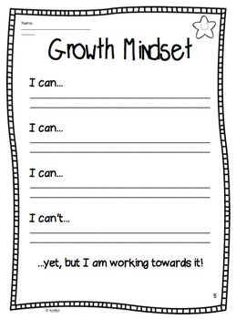 Growth Mindset Lessons and Workbook