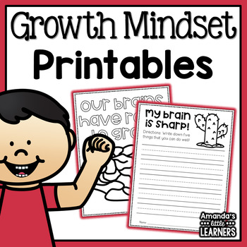 Growth Mindset Worksheets No Prep Printables By Amanda S Little