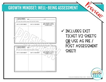 Growth Mindset Self Assessment Worksheets By College Counselor Traci