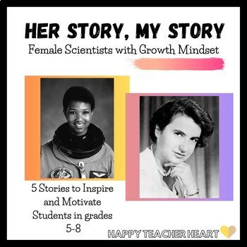 """Scientist Growth Mindset Worksheets---""""Their Story, My Story"""""""