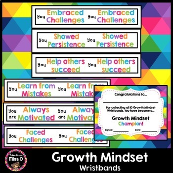 Growth Mindset Wristbands
