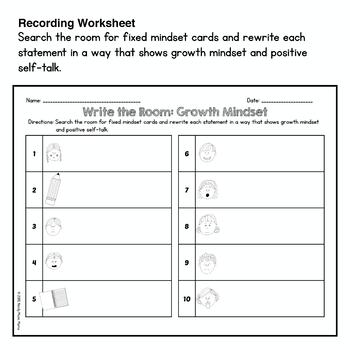 Growth Mindset Write The Room