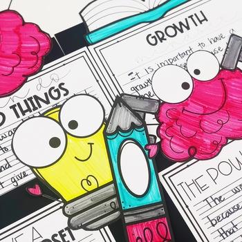 Growth Mindset Writing Craftivity