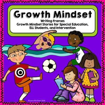 Growth Mindset Writing Frames for Special Education and In