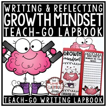 Growth Mindset Writing Lapbook & Growth Mindset Activities Student Goal Setting