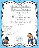 Growth Mindset Writing Prompts: Google Activity