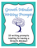 Growth Mindset Writing Prompts for Upper Grades