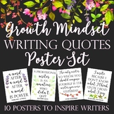 Growth Mindset Writing Quote Posters: Nature-Themed