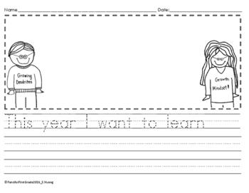 Growth Mindset Writing Template