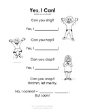 Growth Mindset - Yes, I Can! Poem and Activities