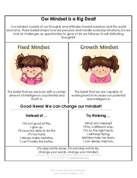 Yes, I Can! Growth-Mindset Poem and Activities