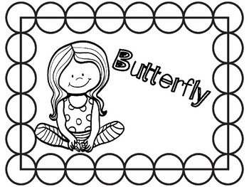 Growth Mindset / SEL / Mindfulness movement  - Yoga coloring pages