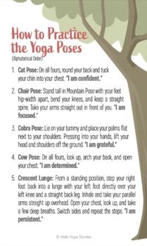 Growth Mindset Yoga Cards for Kids