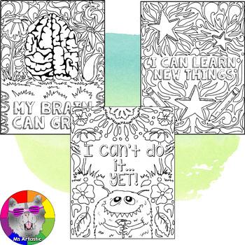 Growth Mindset Zen Doodle Coloring Pages