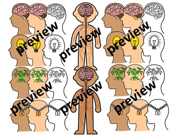 Growth Mindset and Brain Clipart