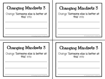 Growth Mindset and Changing Mindset Exit Tickets