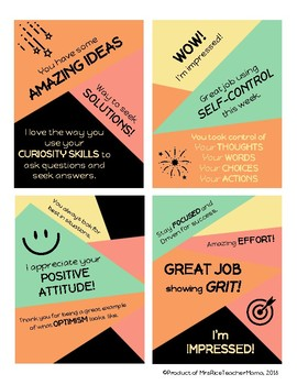 Growth Mindset and Character Ed. Poster and Printables