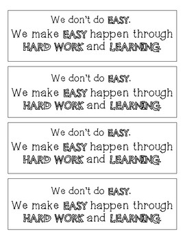Growth Mindset and Goal Setting Bookmarks - 10 Different Options