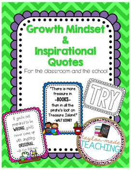 Growth Mindset and Inspirational Quotes