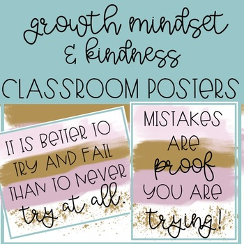 Classroom Posters for Any Classroom, Growth Mindset, Kindness, Classroom Decor