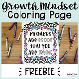 Growth Mindset Coloring Page FREEBIE