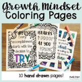Growth Mindset Coloring Pages | Inspiring Quotes SEL Coloring Sheets