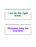 Growth Mindset - bulletin board labels