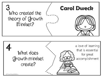 Growth Mindset comprehension activities and games