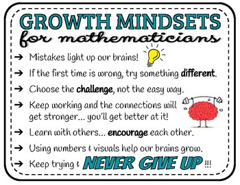 Growth Mindset for Mathematicians Poster