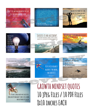 Growth Mindset Posters for Middle and Upper Grades
