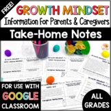 Growth Mindset for Parents: FREE Take Home Notes for Caregivers
