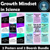Growth Mindset for Science Posters and Bulletin Boards BUNDLE