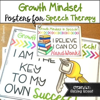Growth Mindset for Speech Therapy Posters