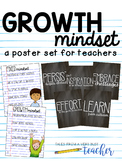 Growth Mindset for Teachers {Poster Set}