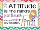 Growth Mindset for the Art Room Bundle:  Posters & Coloring Pages