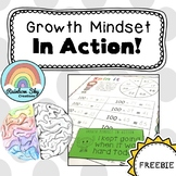 Growth Mindset in Action cards {Freebie}