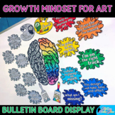 Growth Mindset Posters Bulletin Board Display   Classroom Decor for the Art Room