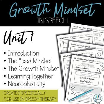 Growth Mindset in Speech - Supplementary Curriculum for Speech - Bundle