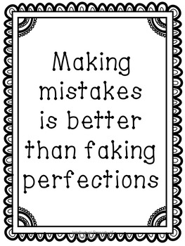 Growth Mindset lesson about Mistakes using quotes