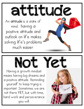 Growth Mindset (lessons, activities, posters, reader's theater, and vocabulary)
