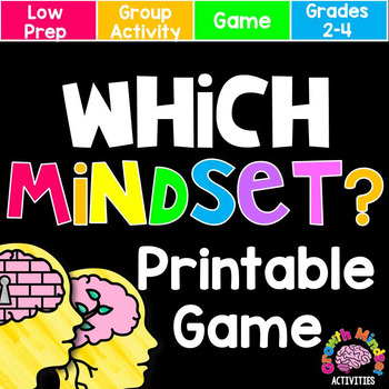 Growth Mindset or Fixed Mindset Board Game