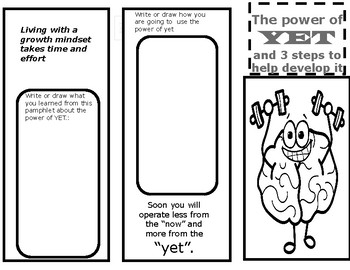 Growth Mindset - power of YET book and questions Test Prep Motivation