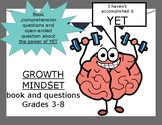 Growth Mindset - power of YET book and questions Test Prep