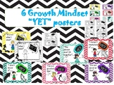 Growth Mindset (SEL) power of YET posters -mindfulness / SEL