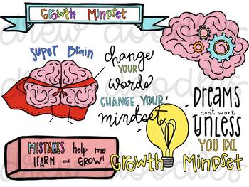 Growth Mindset pt 2 Digital Clip Art Set