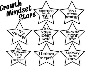 Growth Mindset stars