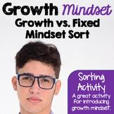 Growth Mindset versus Fixed Mindset Sort
